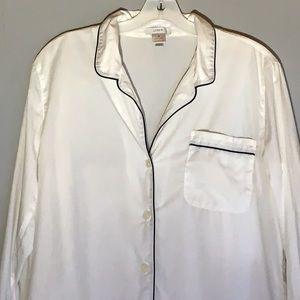 J. Crew white night shirt, M